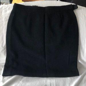 Cento X Cento Black Wool Skirt